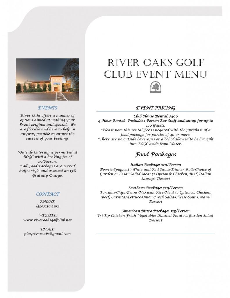 ROGC Event Menu